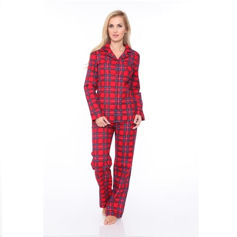Flannel Pajama Set - Red Plaid