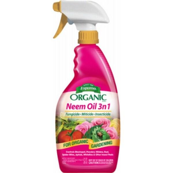 Espoma EONM24 Organic 3-In-1 Neem Oil, 24 Oz