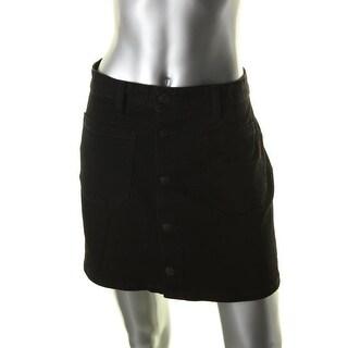 Denim & Supply Ralph Lauren Womens Emilie Denim Skirt Button Front Mini