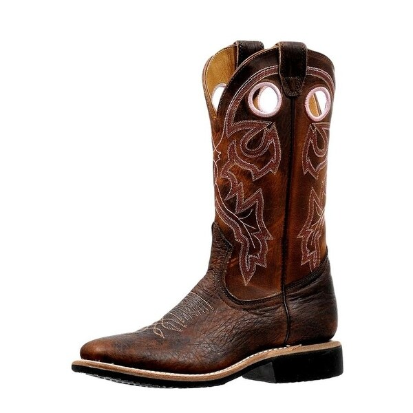 Boulet Western Boots Womens Extralight Pull Holes Lined Old Town
