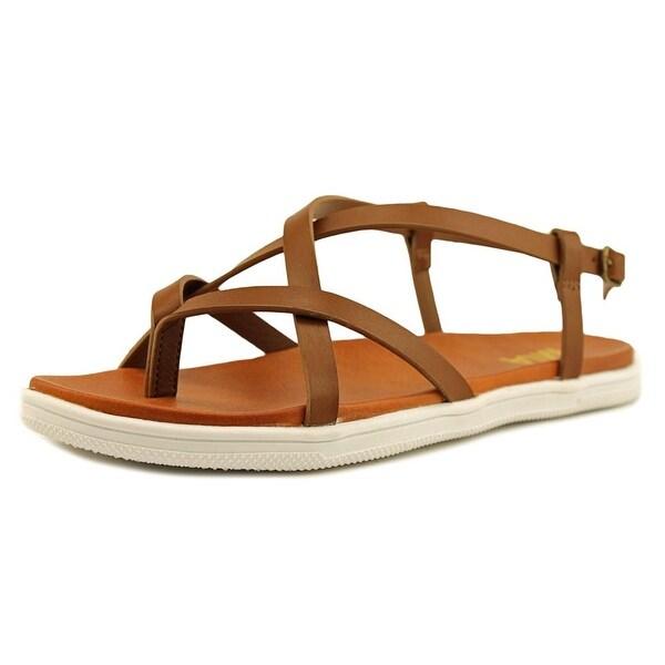 Mia Elana Women Open-Toe Synthetic Brown Slingback Sandal