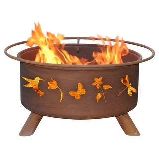 Patina Products F110 Flower and Garden Fire Pit - bronze