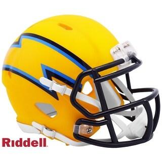 Los Angeles Chargers AMP Alternate Series Riddell Speed Mini Football Helmet