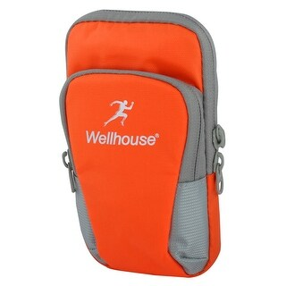 Wellhouse Authorized Sports Running Nylon Arm Bag Phone Pack Holder Orange L