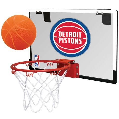 Rawlings NBA Game On Basketball Hoop and Ball Set (Detroit Pistons)