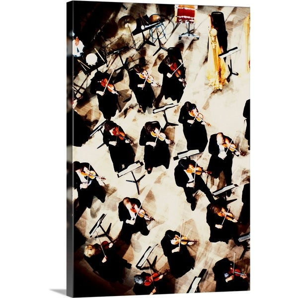 """High Angle View of Symphony Orchestra"" Canvas Wall Art"