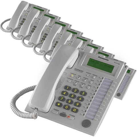 Panasonic KX-T7736W (10 Pack) Speakerphone Telephone With LCD