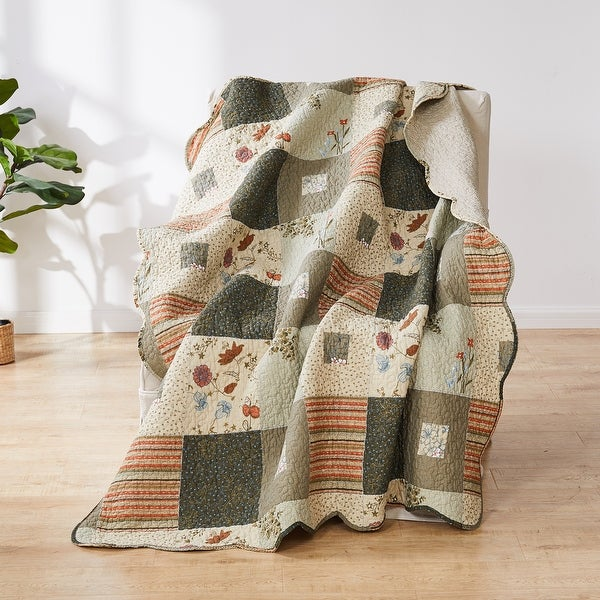 Greenland Home Fashions Sedona Cotton Throw. Opens flyout.