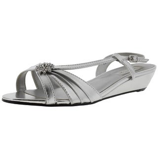 Touch Ups Womens Geri Jeweled Slingback Evening Sandals - 6.5 wide (c,d,w)