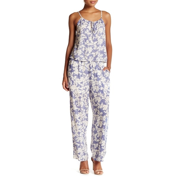 0e3add15dd Shop Kensie NEW Blue White Women s Size Small S Floral Print Jumpsuit -  Free Shipping On Orders Over  45 - Overstock - 20714190