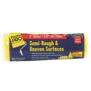 """Foampro 22 Split Foam Roller, Semi Rough, 9"""" x 1/2"""""""
