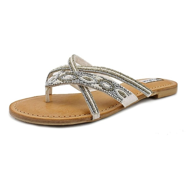 Not Rated Tabago Trippin Open Toe Synthetic Thong Sandal