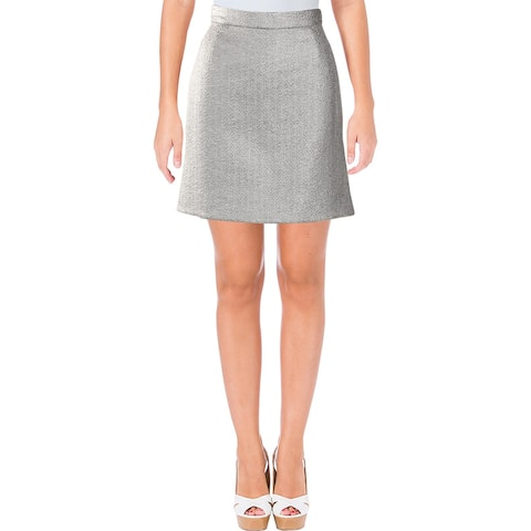 Carven Womens A-Line Skirt Metallic Above Knee