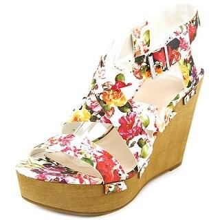 Fergalicious Libby Women Open Toe Synthetic White Wedge Heel