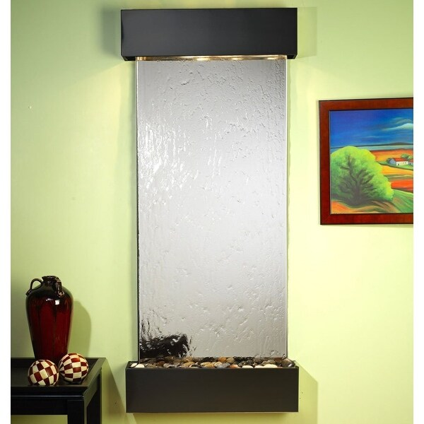 Adagio Inspiration Falls With Silver Mirror in Blackened Copper Finish and Squar