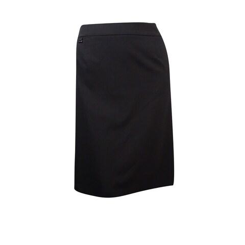 Calvin Klein Women's Plus Size Basic Solid Pencil Skirt - Black
