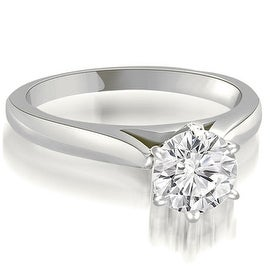 0.50 cttw. 14K White Gold Cathedral 6-Prong Round Cut Diamond Engagement Ring