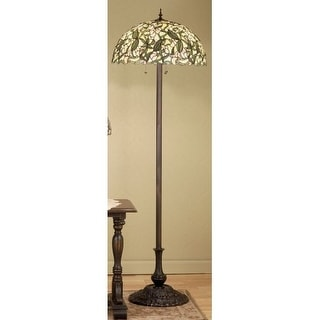 Meyda Tiffany 48623 Stained Glass / Tiffany Floor Lamp from the Sweet Pea Collection