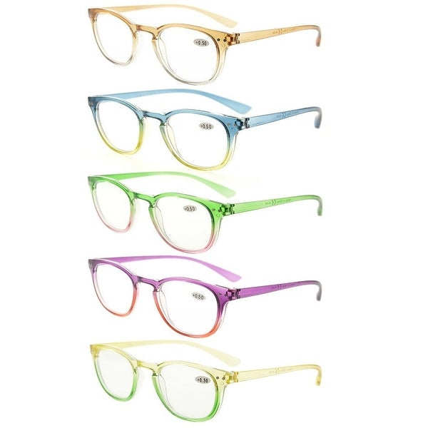 Eyekepper 5 Pack Fashion Reading Glasses(One for each color). Opens flyout.