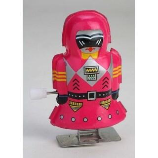 "Vintage Style 2.5"" Tin Mini Robot Red (Magic Girl) Pink"