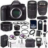 Canon EOS 5DS R DSLR Camera (International Model) 0582C002 + Canon EF 24-105mm f/4L IS USM Lens + Charger Bundle