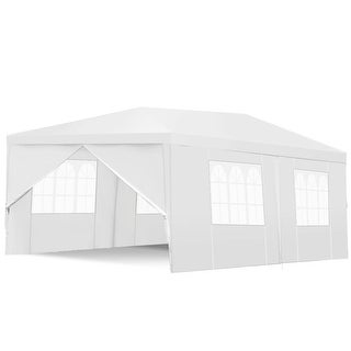 Costway 10 X20 Canopy Tent Heavy Duty Wedding Party Tent 6 Sidewalls W Carry Bag