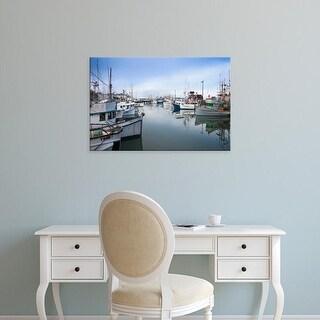 Easy Art Prints Walter Bibikow's 'Fisherman's Wharf' Premium Canvas Art