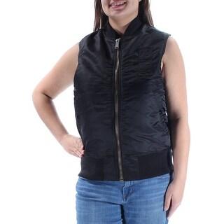 RACHEL ROY $119 Womens New 1094 Black Sleeveless Vest Casual Top XL B+B
