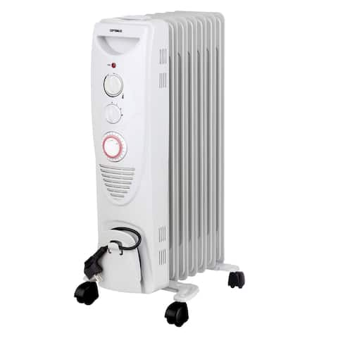 Portable 7 Fins Oil Filled Radiator Heater with Timer