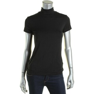 Ralph Lauren Womens Pullover Top Turtleneck Stretch - s