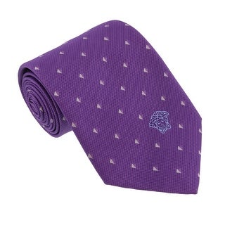 Versace Violet Woven Triangle Neat Tie