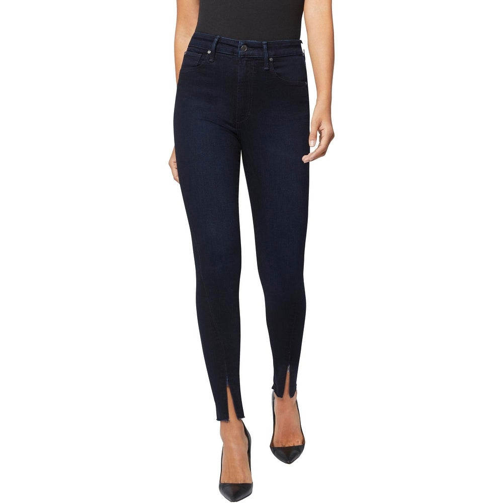 Joes x WeWoreWhat The Danielle High-Rise Dark Rinse Zipper Hem Skinny Jeans - Indigo