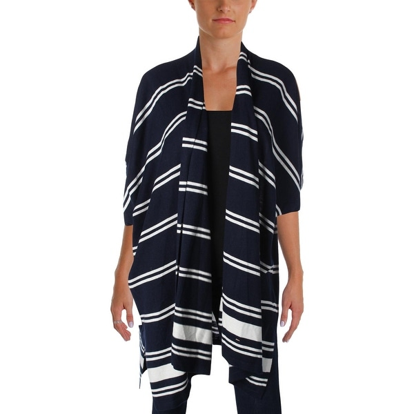Lauren Ralph Lauren Womens Mandolie Cardigan Sweater Drapey Striped