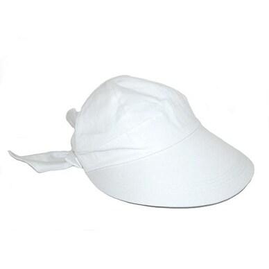 a85732ce2 Dorfman Pacific Women's Cotton White 4 Inch Brim Sun Facesaver Hat