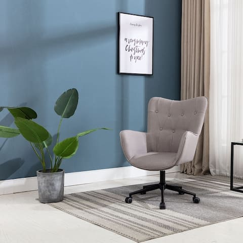 Upholstery Swivel Adjustable Height High Back Home Office Task Chair