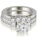 2.02 cttw. 14K White Gold Round Cut Diamond Engagement Set - White H-I - Thumbnail 0