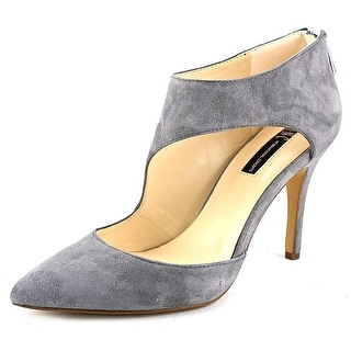 INC International Concepts Zizi Women Pointed Toe Suede Gray Heels