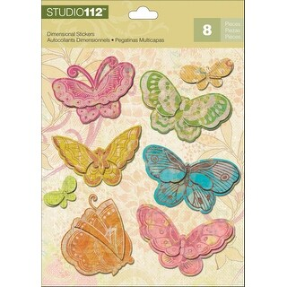Studio 112 Dimensional Stickers-Candy Butterflies