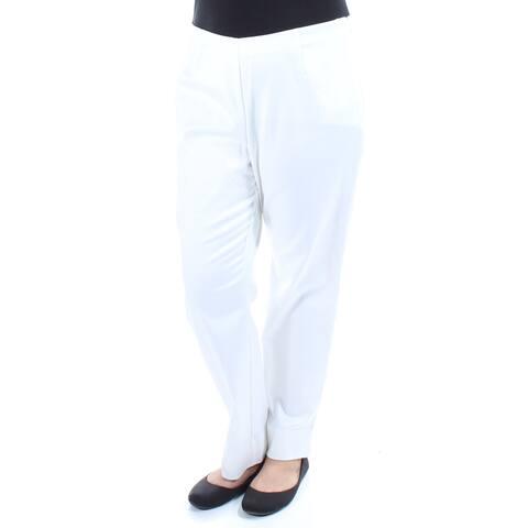 CHARTER CLUB Womens Ivory slim leg Straight leg Pants Size 14