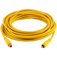 Seismic Audio 25 Foot Yellow RCA Male to RCA Female Audio Extension Cable AV RCA Extender Cord