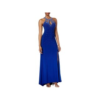 NW Nightway Womens Formal Dress Jeweled Open Back