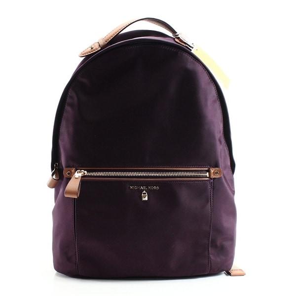 shop michael kors new nylon kelsey damson purple backpack style rh overstock com
