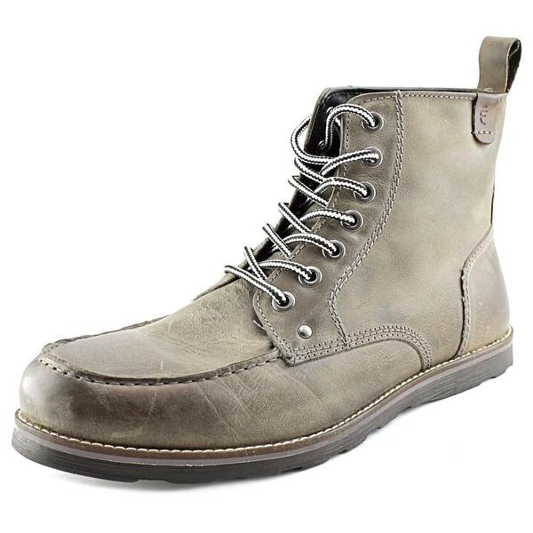 2beba52489f Shop Crevo Buck Men Moc Toe Leather Gray Boot - Free Shipping On ...