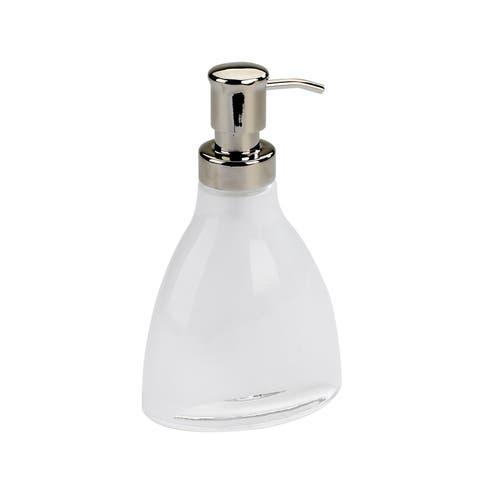 "Umbra 020202 Vapor 4"" Wide Glass Soap Dispenser by Michelle Ivanovic - Translucent White"