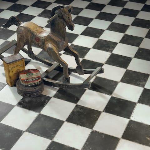 "SomerTile Kings Damero 17.63"" x 17.63"" Ceramic Floor and Wall Tile"
