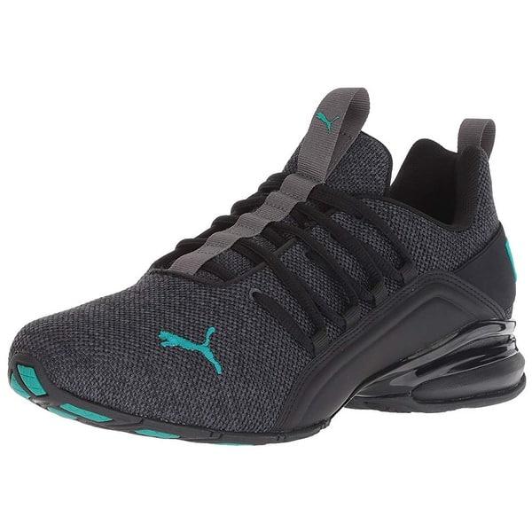 e125d858fa36 Shop Puma Men's Axelion Sneaker, Iron Gate Black-Spectra Green, 10.5 ...