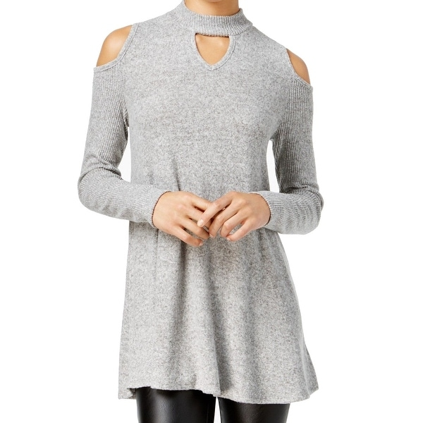 4138cd24f Shop BCX Women's Trapeze Cold-Shoulder Mock-Neck Sweater - Free Shipping On  Orders Over $45 - Overstock - 26894807