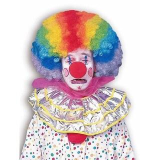 Rainbow Afro Clown Costume Wig