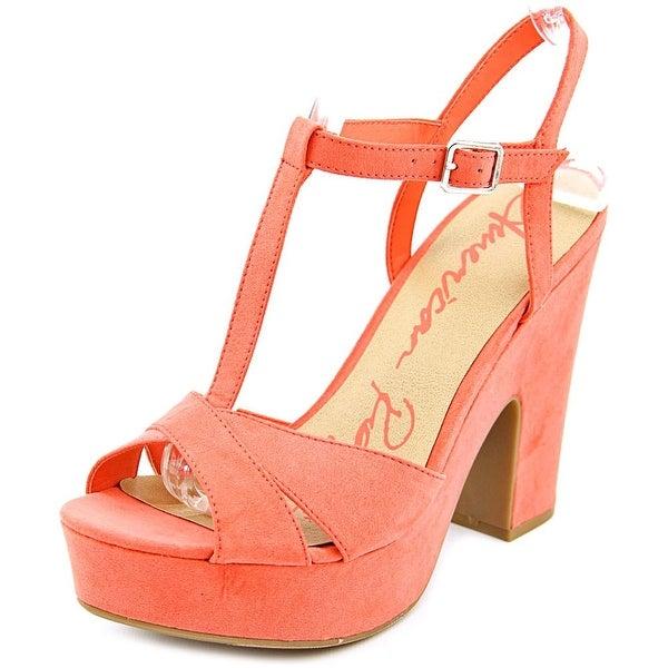 American Rag Jamie Women Open Toe Synthetic Orange Platform Sandal