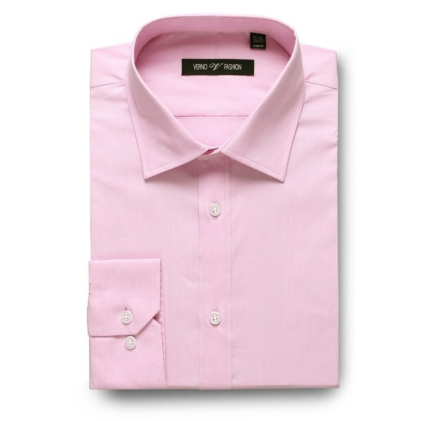Men's Dress Shirt Regular Fit Stretch Solid Shirt For Men